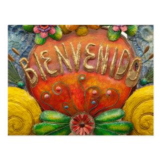 Carte Postale Welcom signent dedans l'espagnol, Mexique