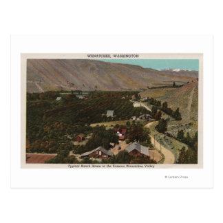 Carte Postale Wenatchee, l'oeil de WABird de ranch dans la
