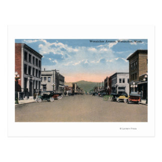 Carte Postale Wenatchee, scène d'avenue de WashingtonWenatchee #