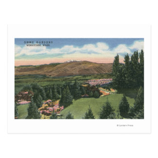 Carte Postale Wenatchee, WashingtonView d'Ohme fait du jardinage