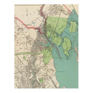 Carte Postale Westchester, villes de Pelham