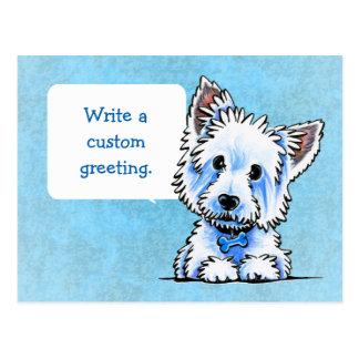 Carte Postale Westie Wesley écrivent vos propres