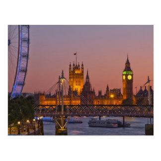 Carte Postale Westminster, Londres, Angleterre