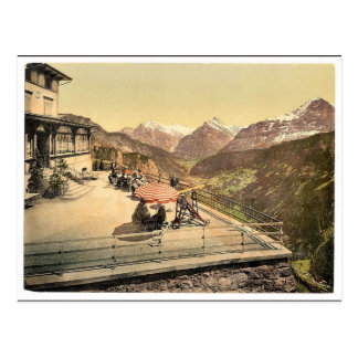 Carte Postale Wetterhorn, de Schynige Platte, Bernese Oberland
