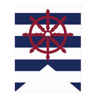Carte Postale Wheel Bunting Flag de baby shower de capitaine