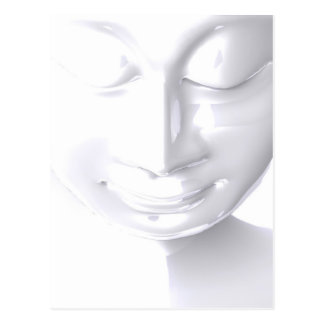 Carte Postale White Buddha Face