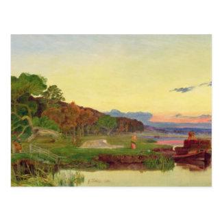 Carte Postale Whitlingham, Norfolk, 1860 (huile sur la toile)