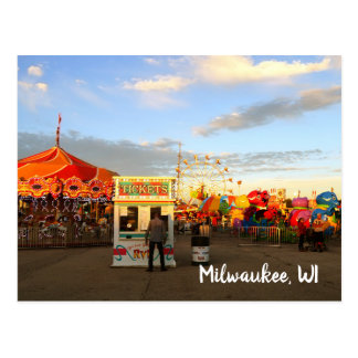 Carte Postale WI justes de Milwaukee d'état du Wisconsin