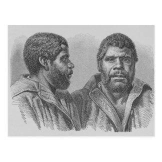 Carte Postale William Lanney, le bout tasmanien
