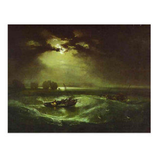 Carte Postale William Turner - pêcheurs en mer