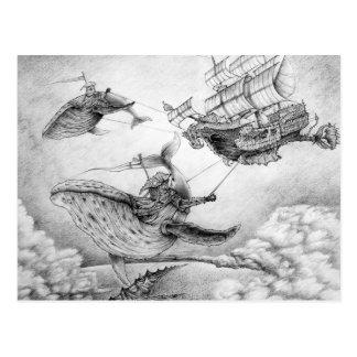 Carte Postale «Wind Whales» Postcard