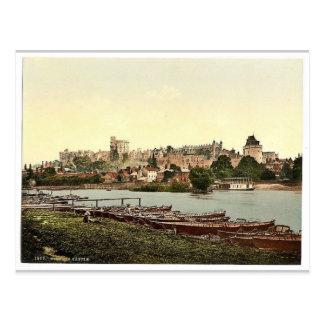 Carte Postale Windsor, vue du château de la rivière, Londres