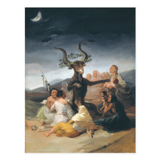 Carte Postale Witches Sabbath - Francisco de Goya (1797-1798)