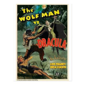 Carte Postale WOLFMAN CONTRE DRACULA par Philip J. Riley