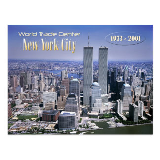 Carte Postale World Trade Center et horizon de NYC