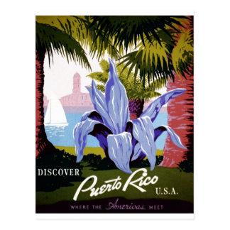 Carte Postale WPA - découvrez Porto Rico