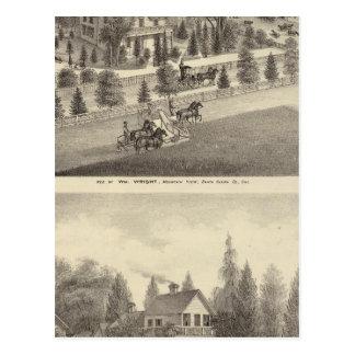 Carte Postale Wright, résidences de Putnam