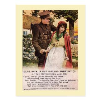 Carte Postale WW1 Songcard