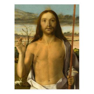 Carte Postale XVème siècle de la bénédiction du Christ