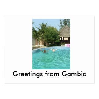 Carte Postale yeeaaah, salutations de Gambie