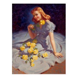 Carte Postale Yellow Roses
