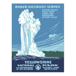Carte Postale Yellowstone vintage WPA