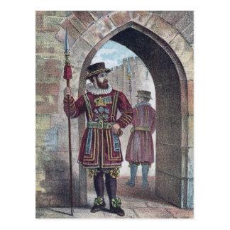 Carte Postale Yeoman Warder à la tour de Londres
