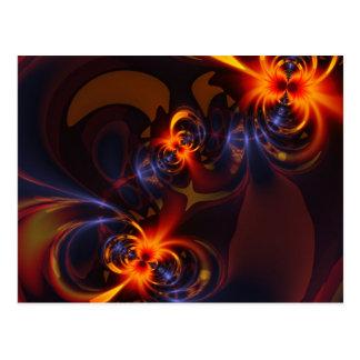 Carte Postale Yeux et remous - plaisir d'ambre et d'indigo