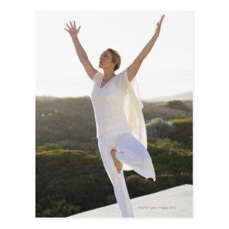 Carte Postale Yoga de pratique 2 de mi femme adulte