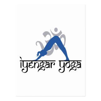 Carte Postale Yoga orienté vers le bas d'Iyengar de chien