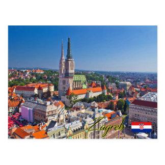 Carte Postale Zagreb Croatia