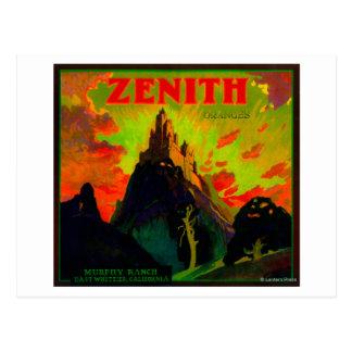 Carte Postale Zénith LabelWhittier orange, CA
