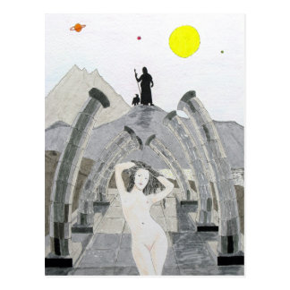 Carte Postale Zeus considère au-dessus du destin de l'Aphrodite
