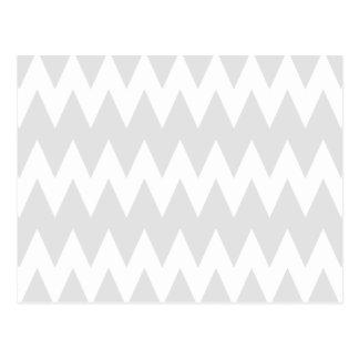 Carte Postale Zigzags gris blancs et en pastel