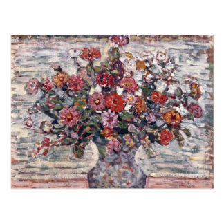 Carte Postale Zinnias par Maurice Prendergast, art floral