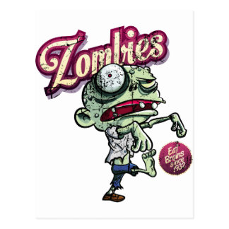 Carte Postale Zombies eat Brains