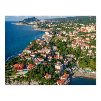 Carte Postale Zonguldak, antenne, côte de la Mer Noire de la
