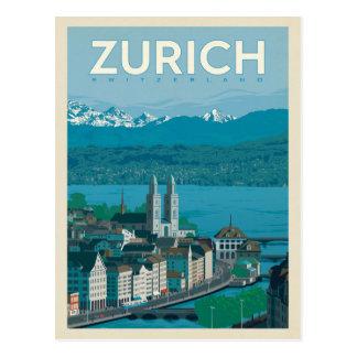 Carte Postale Zurich, Suisse
