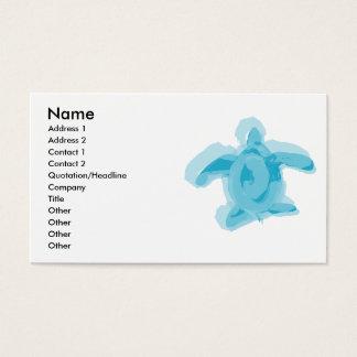 Carte pour aquarelle de profil de tortue