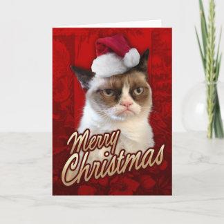 Carte Pour Les Fêtes Chat grincheux de Joyeux Noël