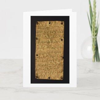 Carte Pour Les Fêtes Fine couche d'or avec l'inscription phénicienne,
