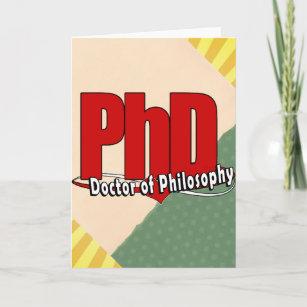 Carte Pour Les Ftes GRAND DOCTEUR De PhD ROUGE LOGO