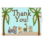 Carte pour notes animal de Merci de baby shower de