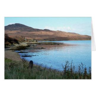 Carte pour notes : Baie écossaise
