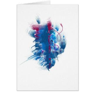 """Carte pour notes bleu et magenta de """"cosse"""" d'art"""