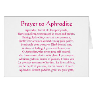 Carte pour notes d'Aphrodite