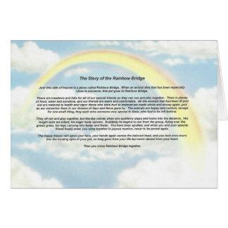Carte pour notes d'arc-en-ciel avec le pont en