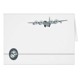 Carte pour notes d'aviation de l'usmc C-130
