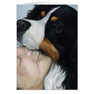 """Carte pour notes de blanc d'art de chien """"d'amour"""