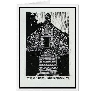 Carte pour notes de chapelle de Wilson